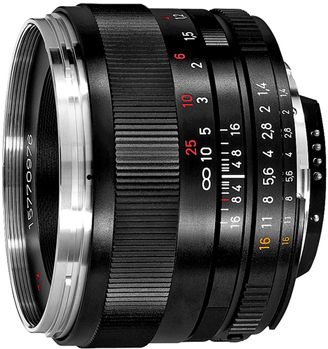 Zeiss 50mm F/1.4 ZF.2* Planar T*  for Nikon