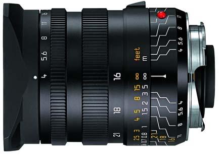 Leica 16-18-21mm f/4.0 Super Wide Angle Manual Focus Lens