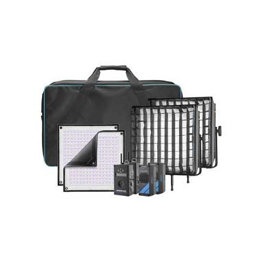 Westcott 1x1 Flex RGBW DMX LED Mat 2-Light Cine Travel Kit