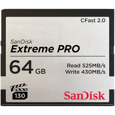 SanDisk 64GB CFast 2.0 Extreme Pro Memory Card