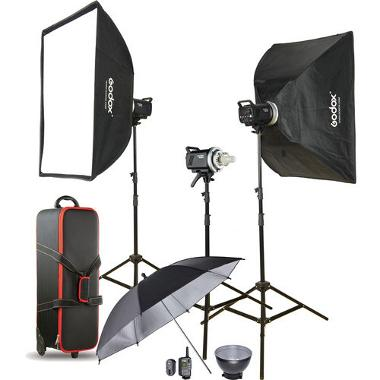 Godox MS300 3-Light Studio Flash Kit