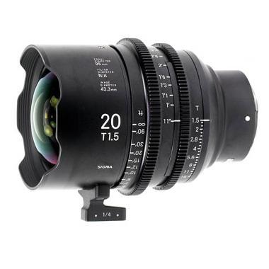 Sigma 20mm T1.5 E Mount Cine Lens