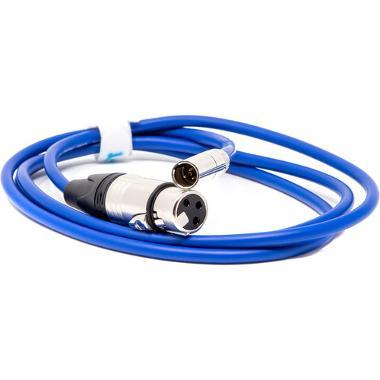 5' Kondor Blue Mini-XLR Male to XLR Female Cable