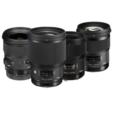 Sigma Art EF Mount Prime Lens Package